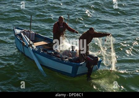 Fishing boat on the Sea of Galilee, Israel - Stock Photo