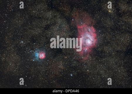 trifid and lagoon nebula - photo #39