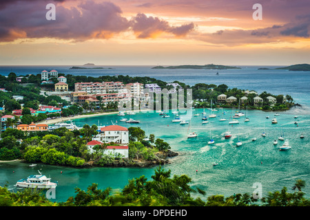 Cruz Bay, St John, United States Virgin Islands. - Stock Photo
