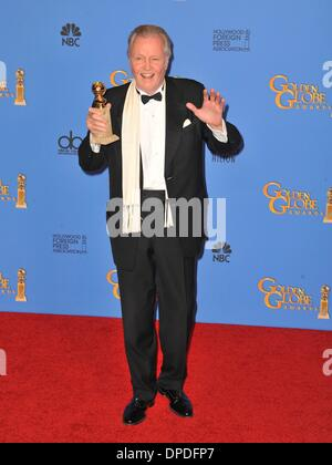 Jon Voight in the press room for 71st Golden Globes Awards - Press Room, The Beverly Hilton Hotel, Los Angeles, - Stock Photo