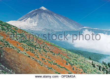 Teide mountain, Tenerife, Canary Islands, Spain - Stock Photo