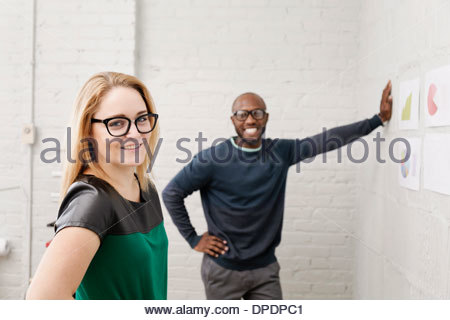 Portrait of young designers in office - Stock Photo