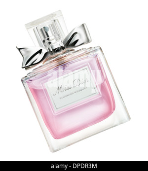 Miss Dior perfume bottle isolated on white - Stock Photo