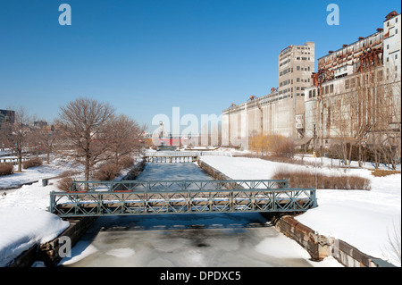 Lachine Canal, Montreal, province of Quebec, Canada. - Stock Photo