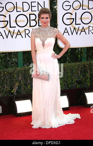 Los Angeles, USA. 11th Jan, 2014. Actress Carly Steel attends the 71st Annual Golden Globe Awards aka Golden Globes - Stock Photo