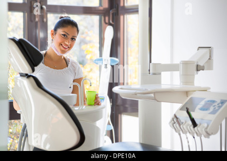 Dental nurse in dentists - Stock Photo