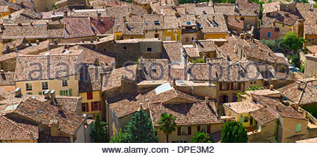 Rooftops of Moustiers-Sainte-Marie, Verdon Gorge, Provence, France - Stock Photo
