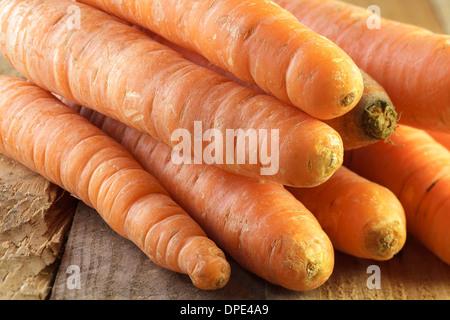Organic carrots - Stock Photo