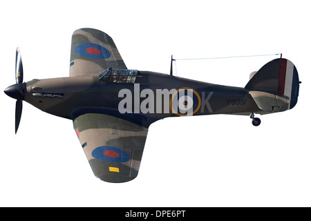 Cutout of Hawker Hurricane - British and allied WWII Fighter Plane - Stock Photo