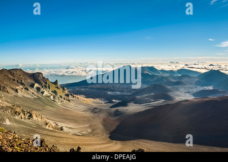 The summit of Haleakala Volcano in Maui. - Stock Photo