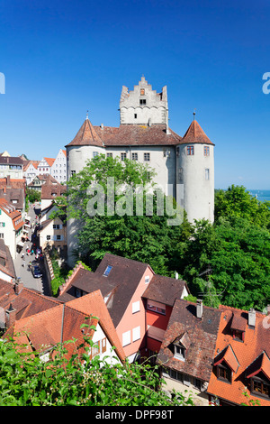 Old Castle, Meersburg, Lake Constance (Bodensee), Baden Wurttemberg, Germany, Europe - Stock Photo