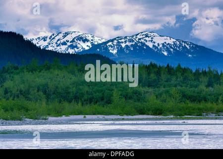 Mendenhall Glacier Lake, Juneau, Alaska, United States of America, North America - Stock Photo