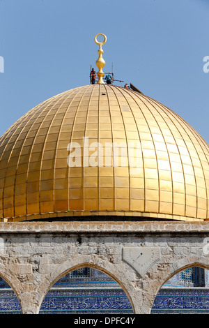 The Dome of the Rock, on Jerusalem's Temple Mount, UNESCO Site, one of the holiest shrines in Islam, Jerusalem, - Stock Photo