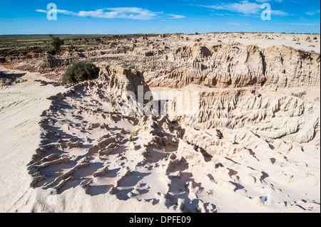 Walls of China, a series of Lunettes in the Mungo National Park, Willandra Lakes Region, UNESCO Site, Victoria, - Stock Photo