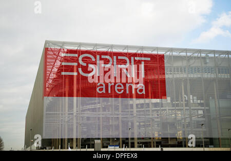 Duesseldorf, Germany. 14th Jan, 2014. A view of the Esprit Arena in Duesseldorf, Germany, 14 January 2014. The district - Stock Photo