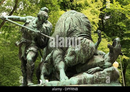 Tiergarten park, the largest park of berlin,(Berlin, Germany, Deutschland, Europe) - Stock Photo