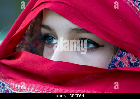 Sikh girl fair skin - Stock Photo