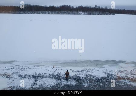 Dec. 15, 2013 - UmeÃ, Västerbotten, Swedem - 14 December 2013, Umea, Sweden:  The Ume River in Umea, Sweden (Credit - Stock Photo