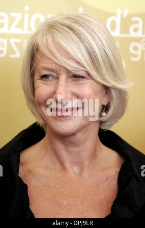 Oct. 10, 2006 - 63rd Venice Film Festival, VENICE, ITALY - HELEN MIRREN.ACTRESS.THE QUEEN, PHOTOCALL.63RD VENICE - Stock Photo