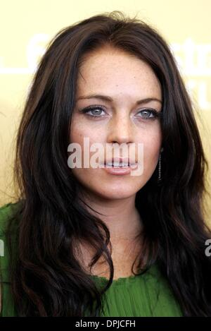 Oct. 10, 2006 - 63rd Venice Film Festival, VENICE, ITALY - LINDSAY LOHAN.ACTRESS.BOBBY, PHOTOCALL.63RD VENICE FILM - Stock Photo
