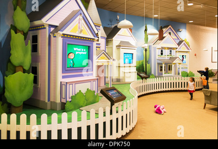 Interior of the South Visitors Center in Temple Square showing children's displays. - Stock Photo