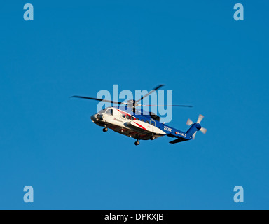 Bristow Helicopter G-GALC Sikorsky S92 approaching Aberdeen Airport.  SCO 9201 - Stock Photo