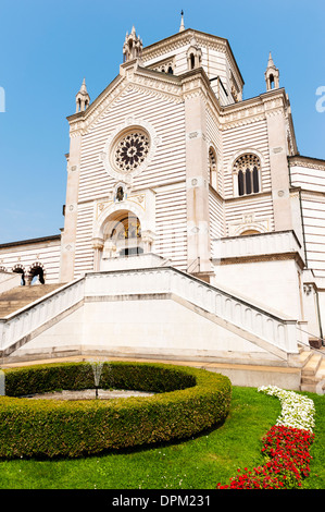 Milan's monumental cemetery built by architect Carlo Maciachini - Stock Photo