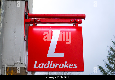 Ladbrokes betting sign - Stock Photo