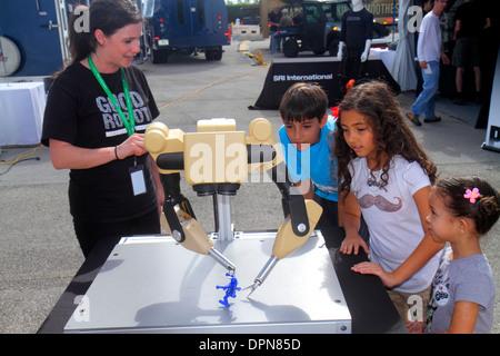 Florida, FL, South, Miami, Homestead, Speedway, DARPA Robotics Challenge Trials, remote controlled, robot, robots, - Stock Photo