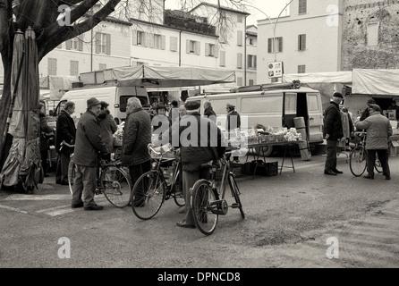 Piazza Martiri della Liberta, Faenza, Emilia Romagna - Stock Photo