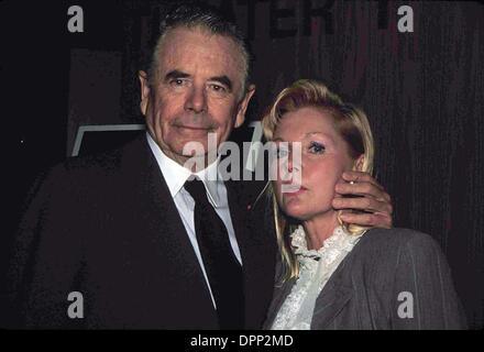 Aug. 31, 2006 - GLENN FORD WITH CAROL LYNLEY 1989. PAULA-MICHELSON-(Credit Image: © Globe Photos/ZUMAPRESS.com) - Stock Photo