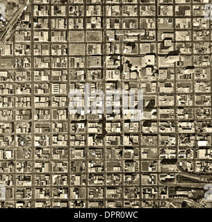 historical aerial photograph San Diego, California, 1972 - Stock Photo