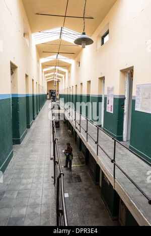 USHUAIA, Argentina - A corridor of the original prison at the Maritime Museum of Ushuaia. The museum consists of - Stock Photo
