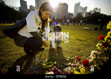Jan 18, 2009 - Causway Bay, Hong Kong, China - Local Chinese, along with the Amnesty International Organization, - Stock Photo