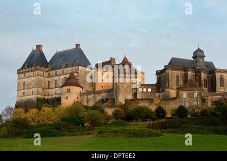 Biron Castle / Chateau de Biron - medieval and later castle, Dordogne, France. - Stock Photo