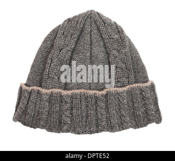hat beanie wool isolated on white - Stock Photo