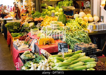 SANTIAGO, Chile - at La Vega Central Market in downtown Chile, just across the Mapocho River from the Mercado Central. - Stock Photo