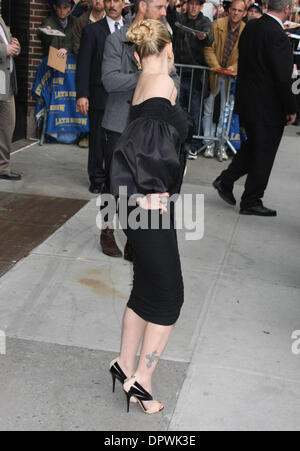 Apr 21, 2009 - New York, NY, USA - DREW BARRYMORE at the Ed Sullivan Theater for her taping of 'The Late Show: With - Stock Photo