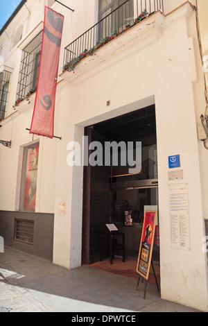 Entrance to the Museo del Baile Flamenco (The Flamenco Dance Museum) Seville (Sevilla), Andalusia, Spain. - Stock Photo