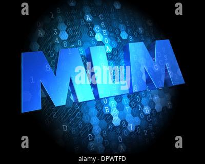 MLM on Dark Digital Background. - Stock Photo