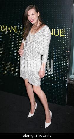 Feb 17, 2009 - New York, New York, USA - Actress MILLA JOVOVICH at the arrivals for the Armani 5th Avenue store opening. (Credit Image: © Nancy Kaszerman/ZUMA Press)
