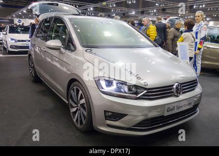 Vienna Autoshow 2014 Vw Golf Sportsvan Stock Photo 65725052 Alamy