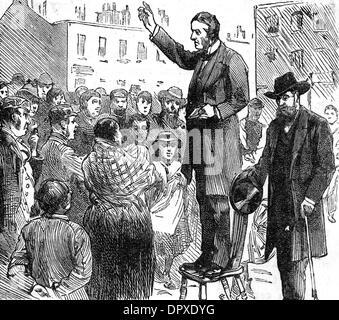 LORD SHAFTESBURY PREACH - Stock Photo