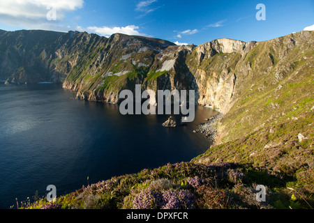 View across the Slieve League cliffs from Bunglas, County Donegal, Ireland - Stock Photo