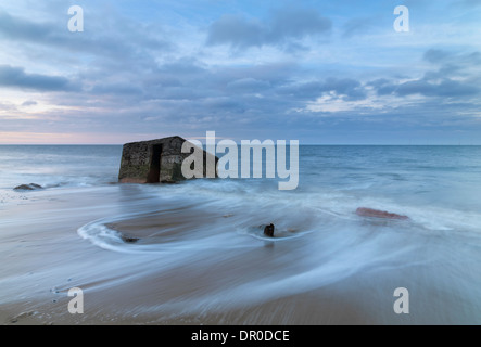 A view of the beach at Caister on Sea in Norfolk, England - Stock Photo