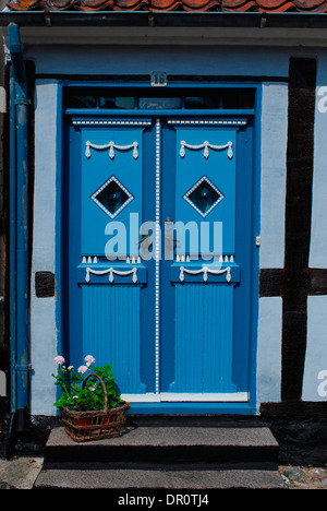 Aero island, old door in Aeroskobing, Fyn, Denmark, Scandinavia, Europe - Stock Photo