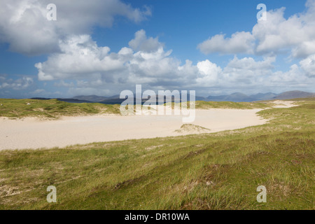 A view of the beautiful beach at Scarista, Isle of Harris, Outer Hebrides, Scotland - Stock Photo