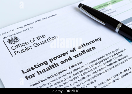 Lasting Power Of Attorney For Health And Welfare Form From The