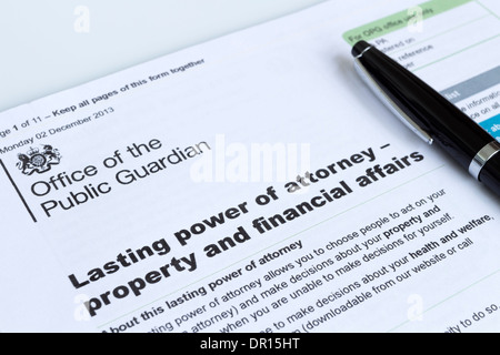 Lasting Power Of Attorney Property And Financial Affairs Form From