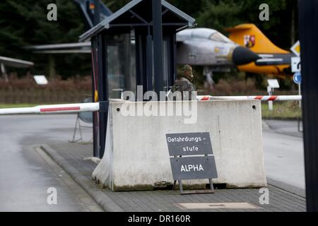 Buechel, Germany. 17th Jan, 2014. A German Air Force Tornado fighter jet taken out of service seen at the air base - Stock Photo